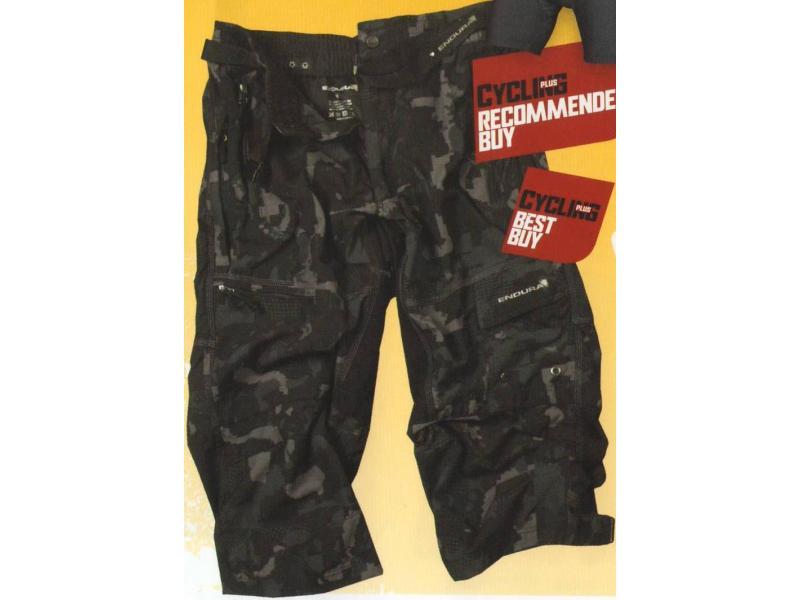 Pánské volné kalhoty Endura Hummvee 3/4 s vložkou- camo - E8024C - velikost S