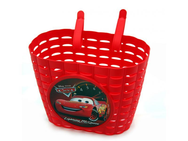 Přední koš na dětské kolo Cars - červený
