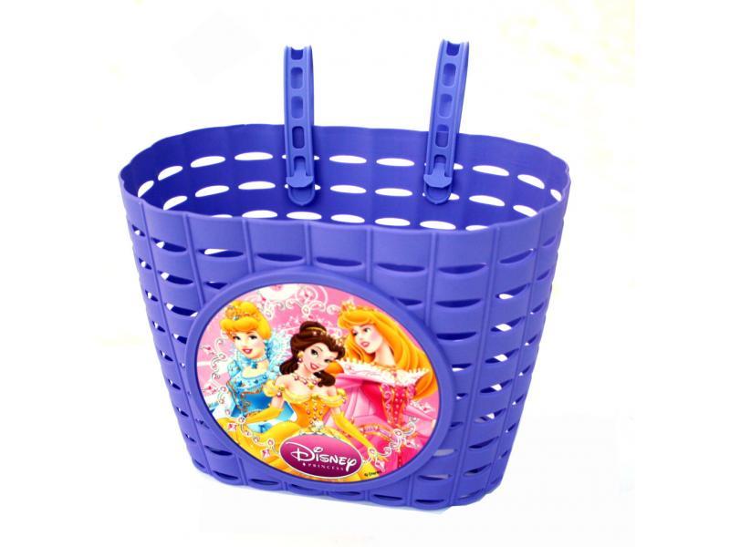 Přední koš na dětské kolo Princess - fialový