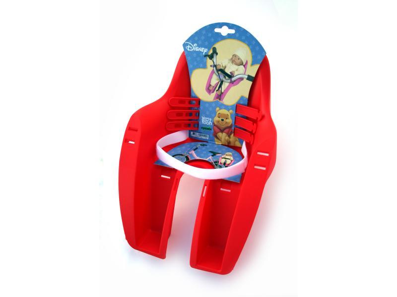 Sedačka na kolo pro panenku s motivem Winnie the Pooh červená