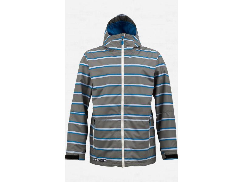 Pánská bunda na snowboard BURTON FACTION JACKET - Jet Pack Marcos Stripe - 276395-083 - Velikost L