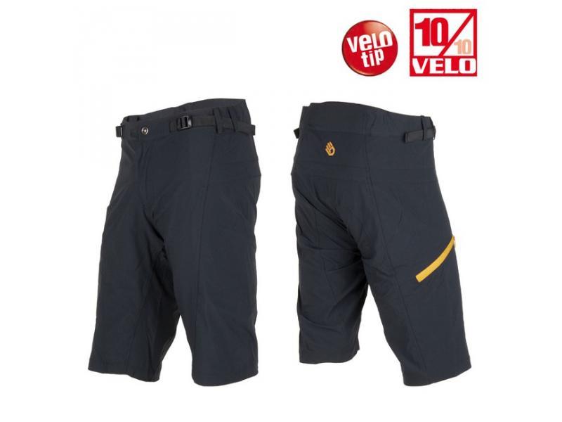 Pánské kalhoty SENSOR HELIUM černá / žlutá - velikost XL