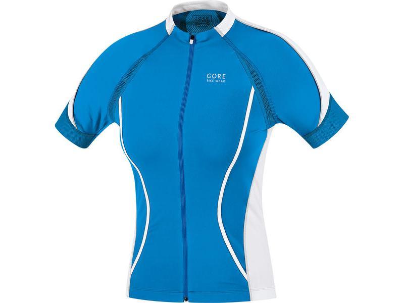 Dámský dres GORE Oxygen FZ Lady Jersey Waterfall Blue / White - velikost 40 (L)