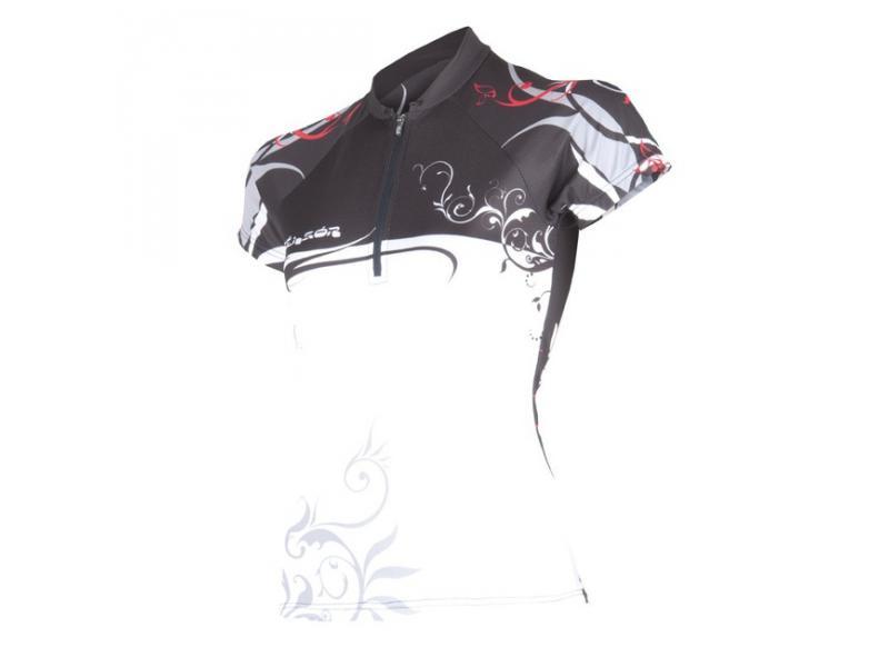 Dámský dres SENSOR Flowers Evo černý - velikost L