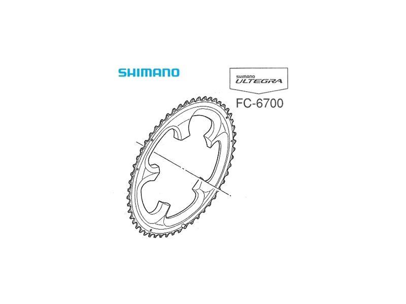 Převodník SHIMANO ULTEGRA FC-6700 - 52 zubů, typ B, stříbrný