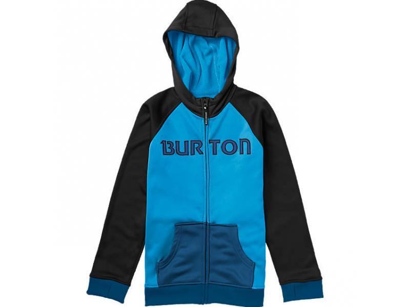 Klučičí funkční mikina BURTON Bonded Hoodie - 108841 427 BLUE-RAY/TRUE BLACK - Velikost S 7-8