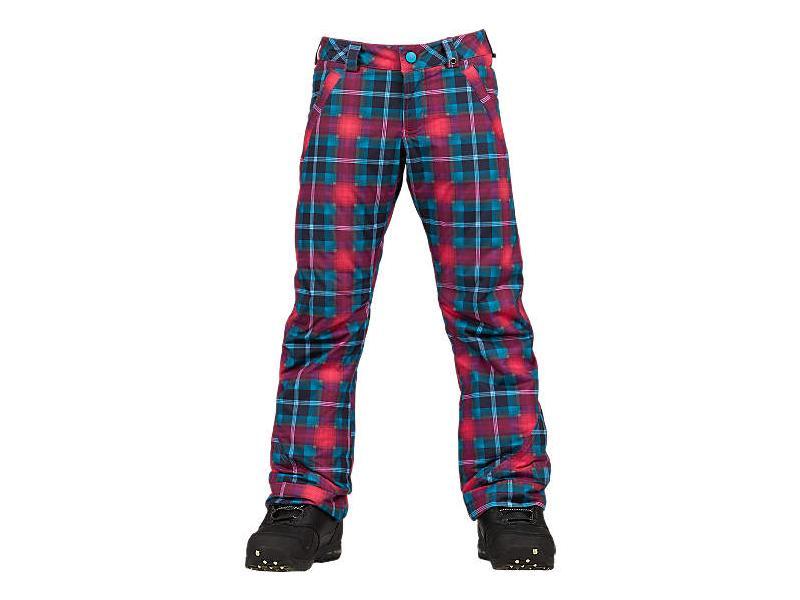 Dívčí snowboardové kalhoty BURTON Girls Sweetart Snowboard Pant - HOT STREAK TARTLET PLAID 11584100658 - Velikost XS 5-6