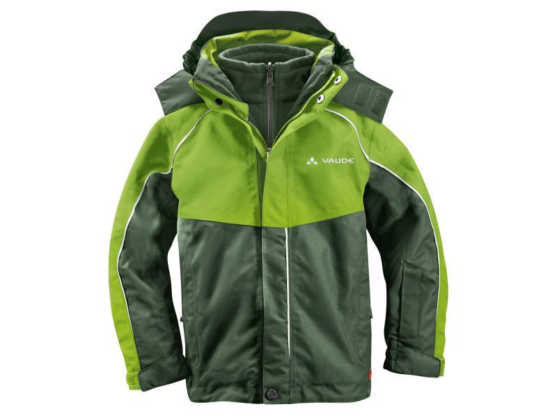 Dětská bunda Vaude KIDS LITTLE CHAMPION 3in1 Jacket II 01309444 - thyme - velikost 116