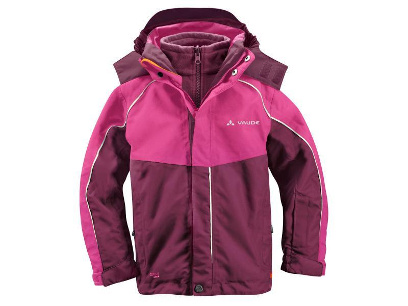 Dětská bunda Vaude KIDS LITTLE CHAMPION 3in1 Jacket II 01309796 - purpure - velikost 104