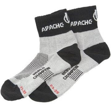 Ponožky APACHE MTB sv.šedé / černé - velikost 31-33 (11-13)