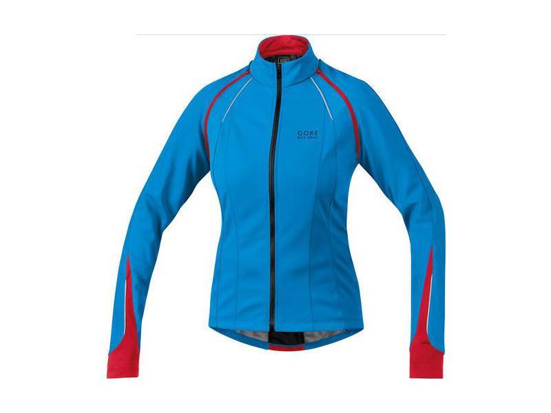 Dámská bunda GORE Phantom 2.0 SO Lady Jacket Waterfall Blue / Rich Red - velikost 38 (M)