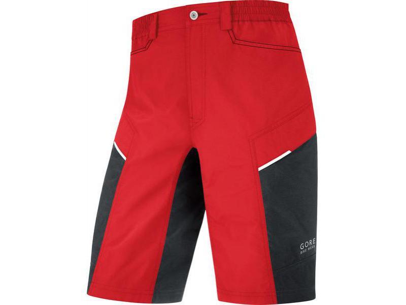 Pánské cyklokraťasy GORE Countdown 2.0 Shorts+ Red / Black - velikost XL