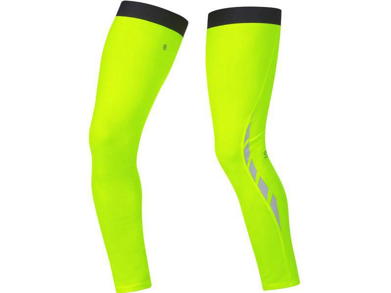 Návleky na nohy GORE Visibility Thermo Leg Warmers Neon Yellow - velikost L