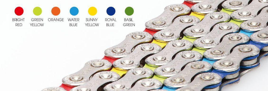 Řetěz Taya NOVE-91-S-CS-Y stříbrno-žlutá (9s)