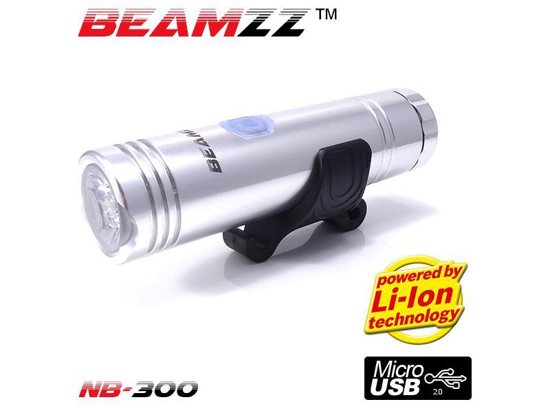 Přední světlo Beamzz NB300 LED 300lm - stříbrná