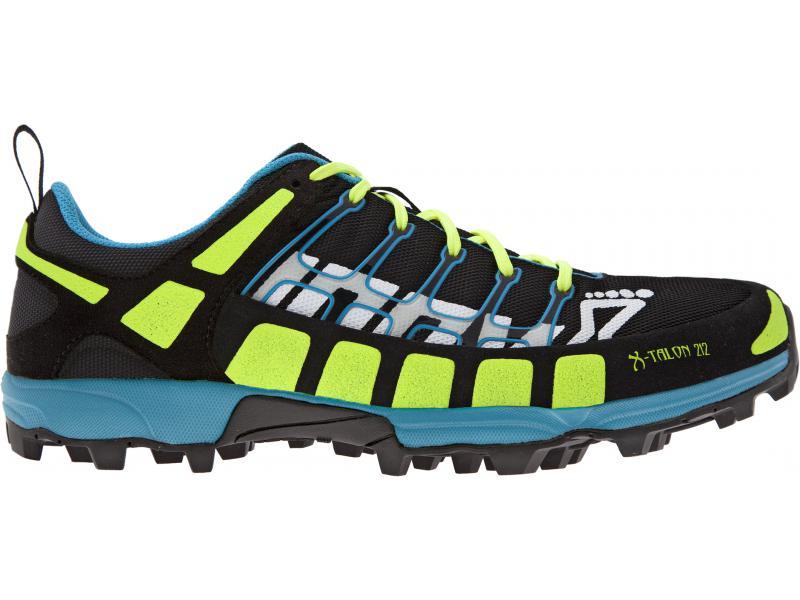 Běžecké boty INOV-8 X-TALON 212 black/neon yellow/blue (S) - velikost 10,5 UK