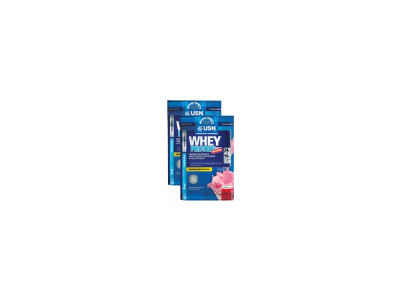 USN Whey Protein Premium 1x34g - jahoda, sáček SUN02