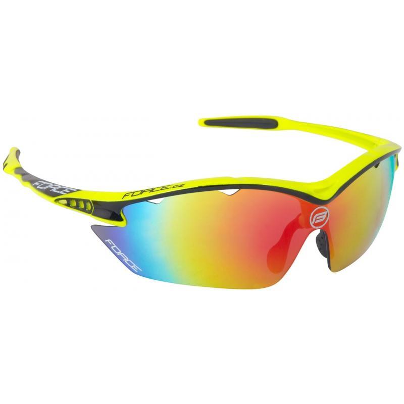 FORCE RON fluo sportovní brýle, černá laser skla 91013