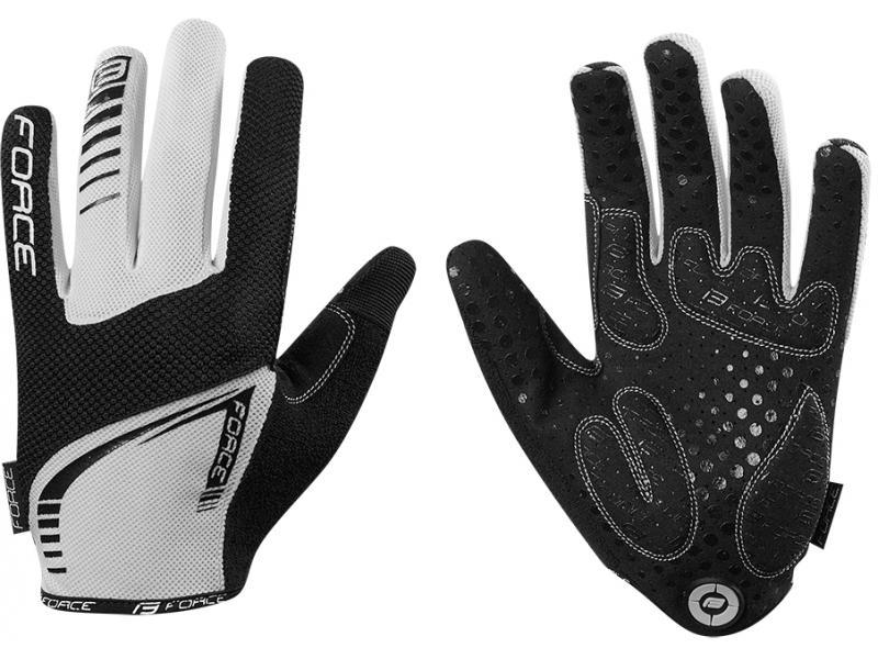 FORCE MTB TARGET rukavice letní, unisex, bílé 905715 - velikost L