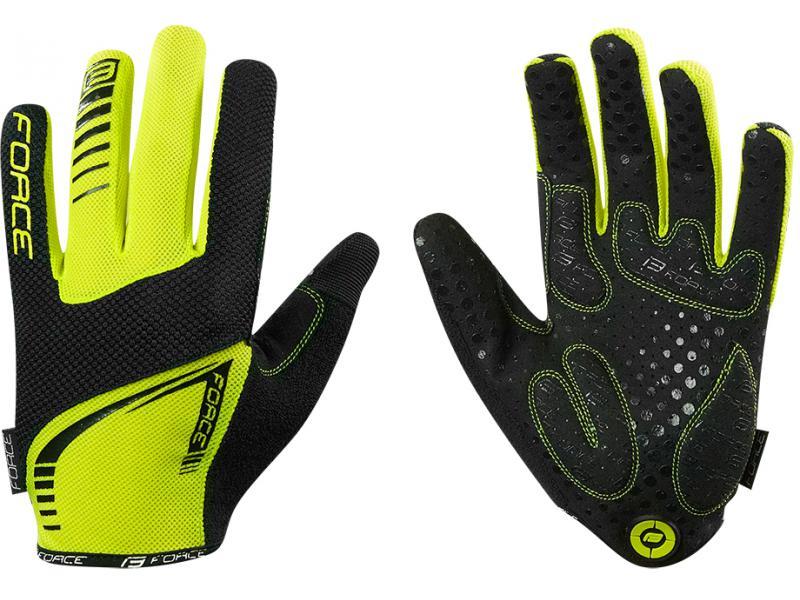 FORCE MTB TARGET rukavice letní, unisex, fluo 905716 - velikost L