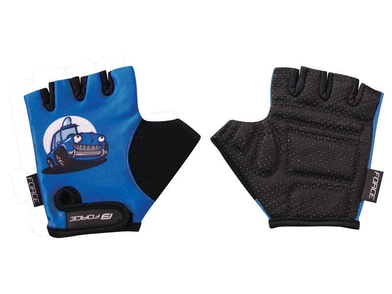 FORCE KID rukavice dětské, modré-auto 905326 - velikost L