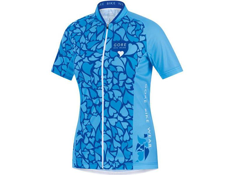 Dámský dres GORE Element Lady Love Camo Jersey - Waterfall / ice blue - velikost 38 (M)
