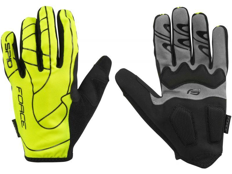 FORCE MTB SPID letní rukavice, fluo unisex 9056953 - velikost M