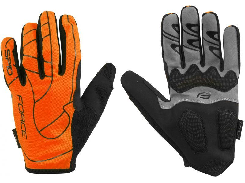 FORCE MTB SPID letní rukavice, oranžová unisex 9056954 - velikost L