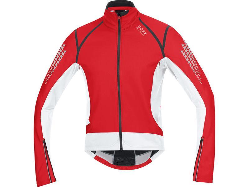 Pánská cyklistická bunda GORE Xenon 2.0 SO Jacket red/ white - velikost L