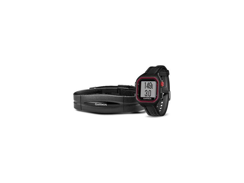 Garmin Forerunner 25 HR Black/Red - velikost XL