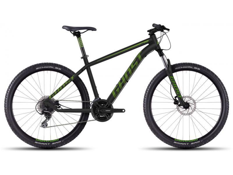 GHOST Kato 2 black/green/gray 2016 (27,5) - velikost 42cm (S - 16,5)