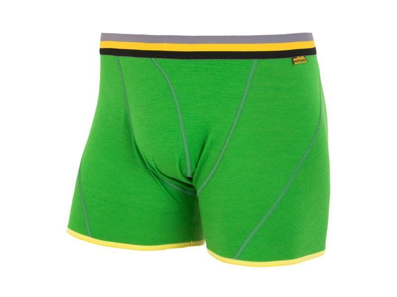 Pánské trenky Sensor Merino Wool Active, zelené - velikost L