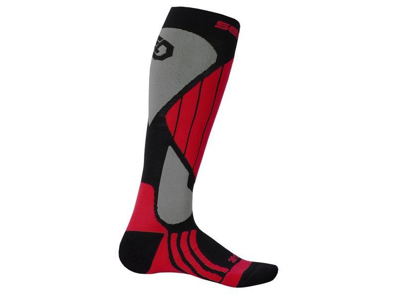 Ponožky Sensor Snow Pro, černá/červená/šedá - velikost 3/5