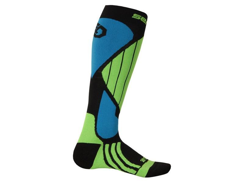 Ponožky Sensor Snow Pro, černá/zelená/modrá - velikost 3/5