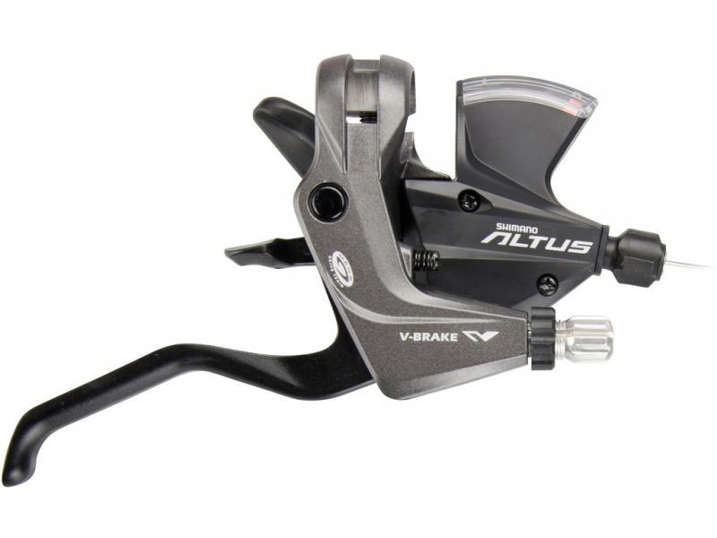 Řadící a brzdová páka Shimano Altus ST-M370 - černá, pravá (9s)