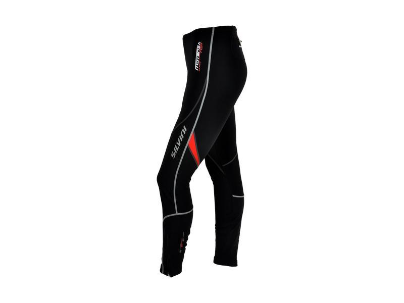 Kalhoty dámské Silvini Movenza WP55, celomembrána, black-red - velikost M
