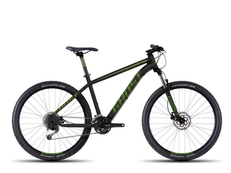 GHOST Kato 3 black/green/gray (27,5) - velikost 38cm (XS - 15)