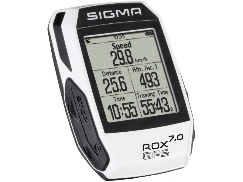 Cyklocomputer Sigma Rox 7.0 - GPS, bílá