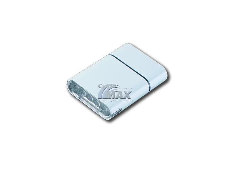 Přední světlo OWLEYE, dobíjení USB - barva červená