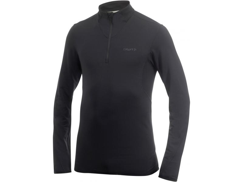 Pánský polorolák se zipem Craft Elite L2 Pullover with Bodymaping - 193867-1999 černý - velikost S