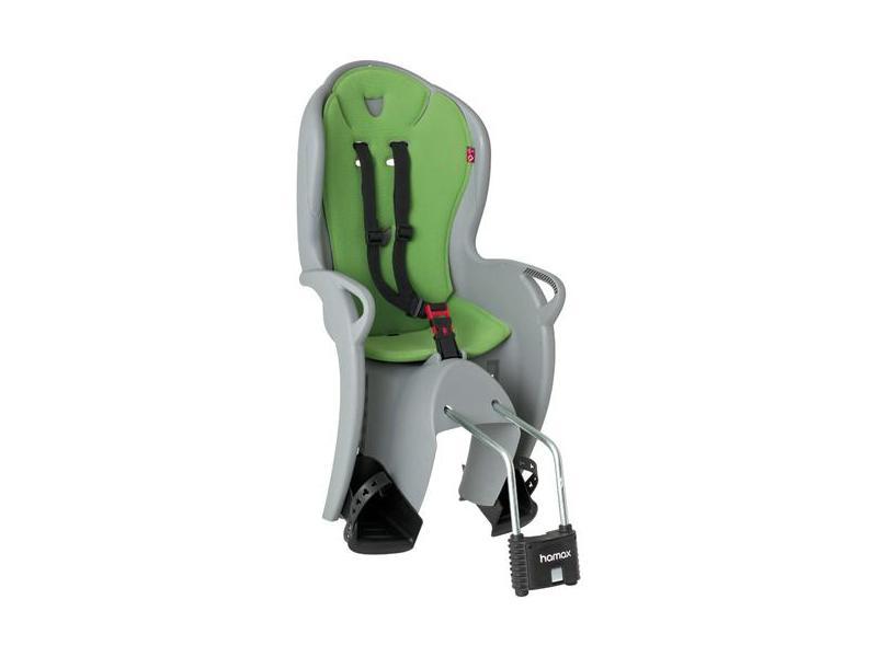 Dětská cyklosedačka HAMAX Kiss stříbrno-zelená