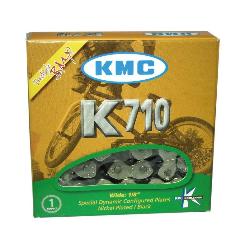 Řetěz KMC K-710 - balený, stříbrno-černá (1s)