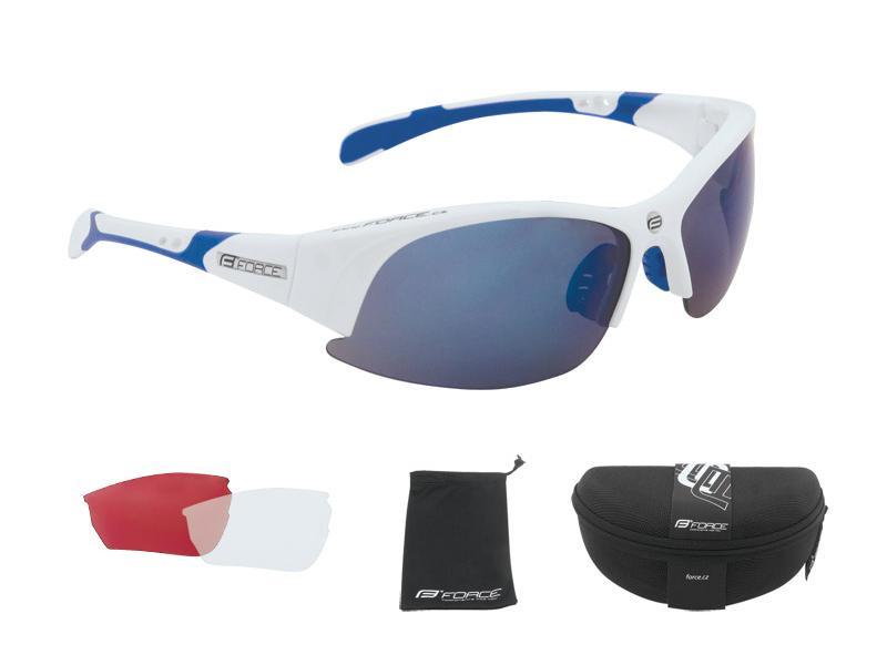 Brýle Force ULTRA - brýle Force ULTRA bílé + modrá skla
