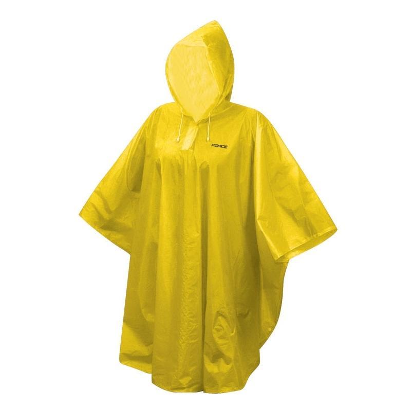 Pláštěnka Force Poncho - XS-M, žlutá
