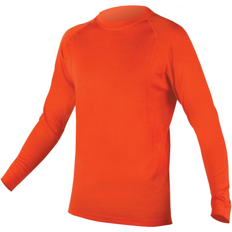 Triko Endura Baa Baa Merino L/S - pánské, s dlouhým rukávem, oranžové - E3029OR - velikost L