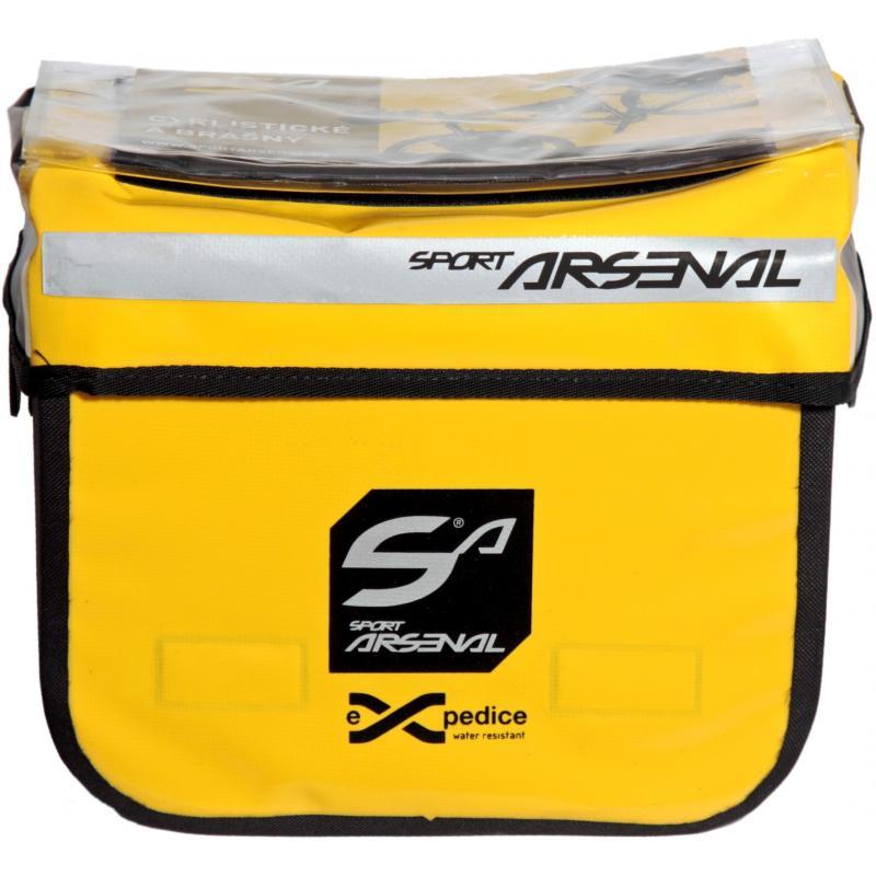Fotografie Brašna Sport Arsenal Art. 310 QuickFix - na řidítka, vodotěsná, žlutá