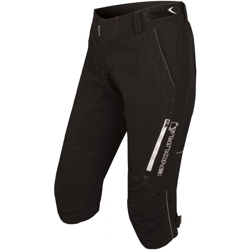 3/4 kalhoty Endura Singletrack II - dámské, volné, černé - E8041 - velikost S