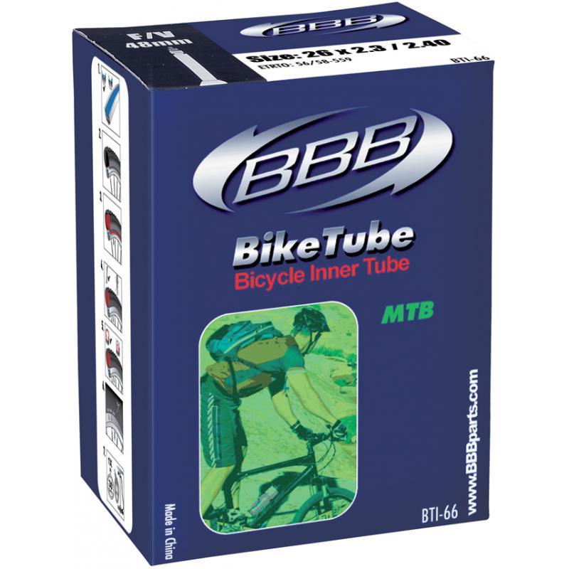Duše BBB BTI-63 BikeTube 26x1.9/2.125 (47/57-559/584) (DV/EP)