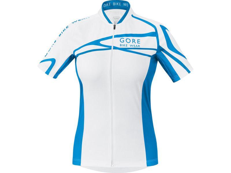 Dres Gore Element W-line - dámský, White/ Waterfall Blue/ Splash Blue - velikost 38 (M)