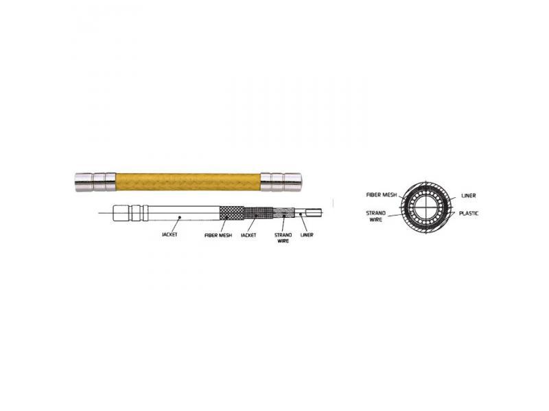 Bowden ALIGATOR LY-666 (LY-888) - zlatá 5mm (1m)